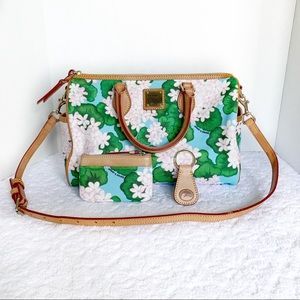 Dooney and Bourke Cotton Covered Satchel